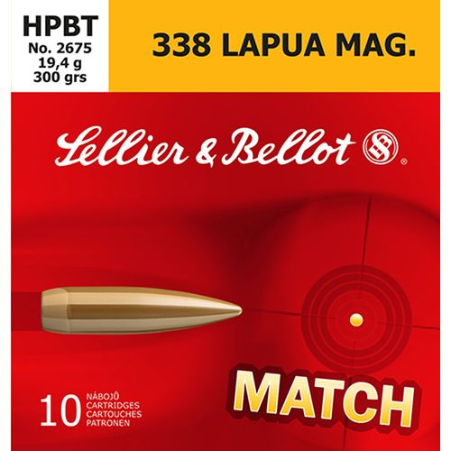 Display product reviews for Sellier & Bellot .338 Lapua Magnum 300-Grain Boat Tail HP Centerfire Rifle Ammunition