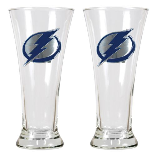 Great American Products Tampa Bay Lightning 19 oz. Pilsner Glasses 2-Pack
