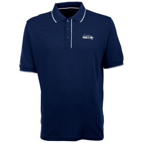 Antigua Men's Seattle Seahawks Elite Short Sleeve Polo Shirt