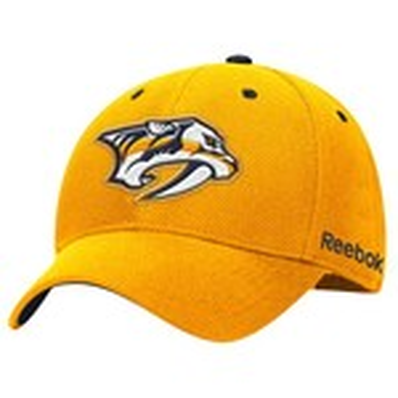 Reebok Men's Nashville Predators Face-Off Structured Flex Cap