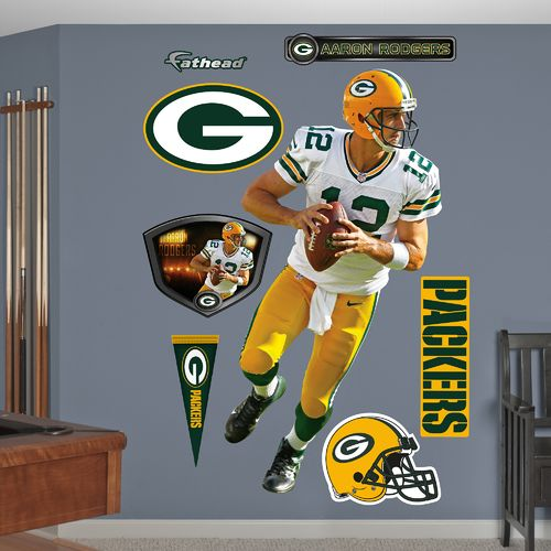 Fathead Green Bay Packers Aaron Rodgers Looking Down