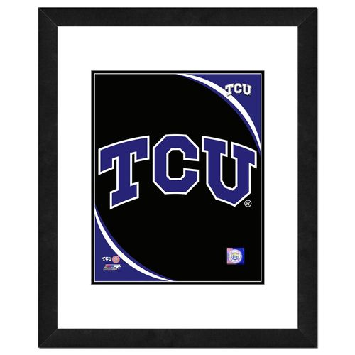 "Photo File Texas Christian University Logo 16"" x 20"" Matted and Framed Photo"