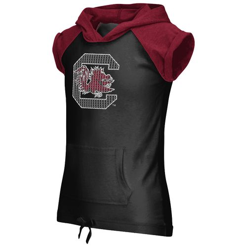 Colosseum Athletics Girls' University of South Carolina Jewel Short Sleeve Hoodie