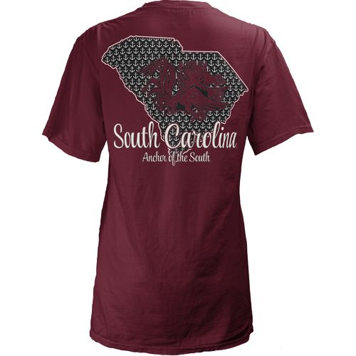 Three Squared Juniors' University of South Carolina State Monogram Anchor T-shirt