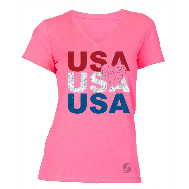 Soffe Women's No Sweat Patriotic T-shirt