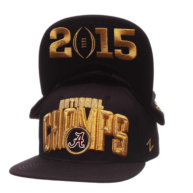 Zephyr Adult's Alabama 2015 National Champions Flat Brim Adjustable Cap
