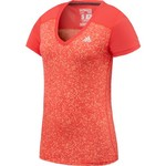adidas™ Women's Ultimate Dot Print Short Sleeve V-neck T-shirt