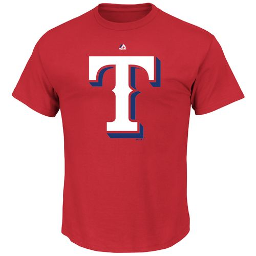Display product reviews for Majestic Men's Texas Rangers Official Logo T-shirt