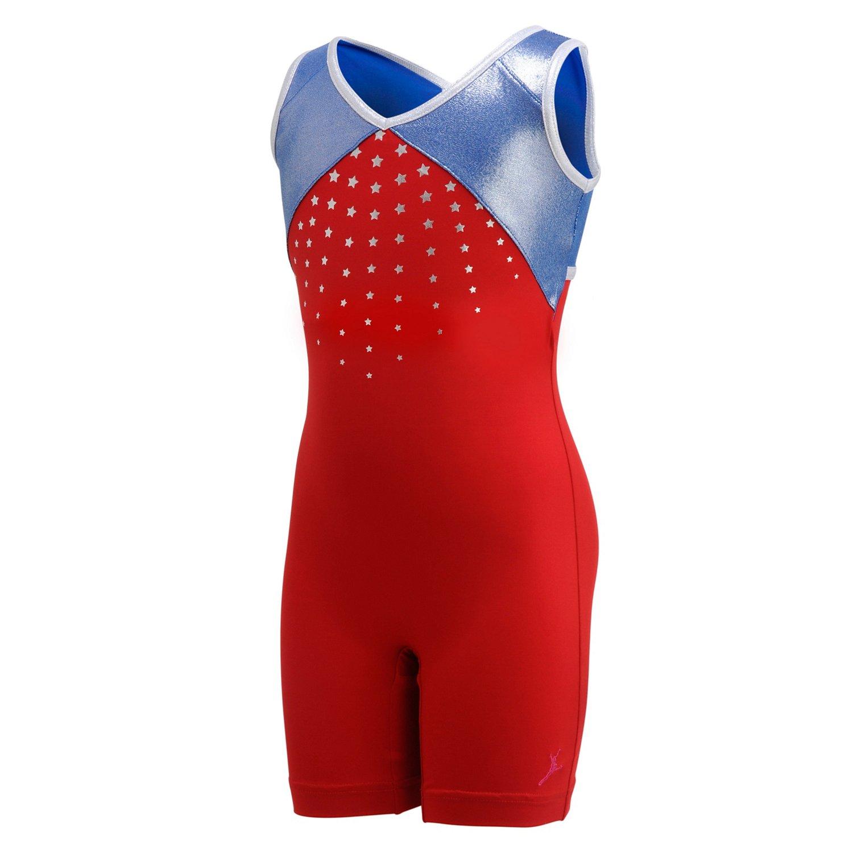 Capezio® Girls' Future Star Olympics Printed Biketard