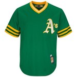 Majestic Men's Oakland Athletics Rollie Fingers #34 Cooperstown Cool Base 1987 Replica Jersey - view number 2