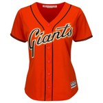 Majestic Women's San Francisco Giants Buster Posey #28 Cool Base Replica Jersey - view number 2