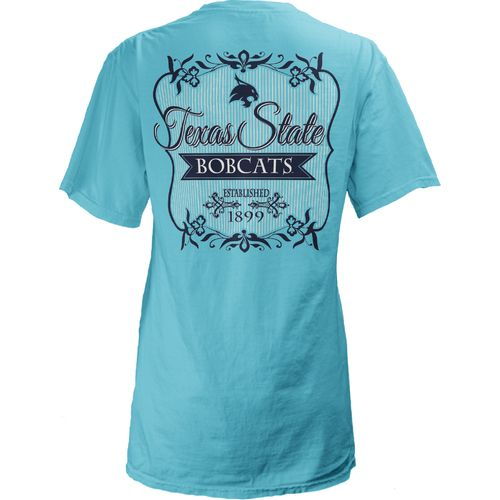 Three Squared Juniors' Texas State University Flora T-shirt