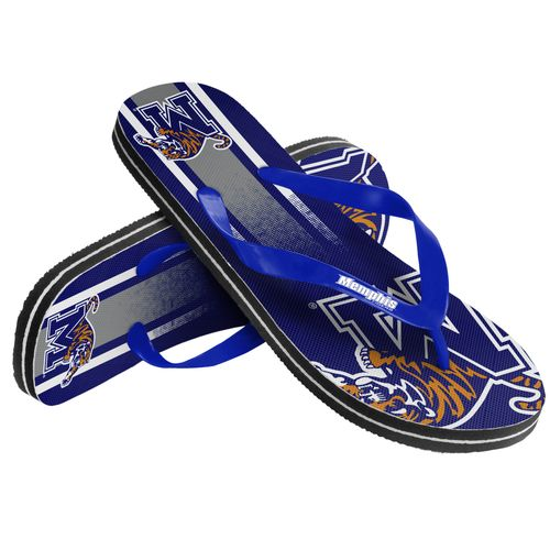 Forever Collectibles™ Adults' University of Memphis Gradient Big Logo Flip-Flops