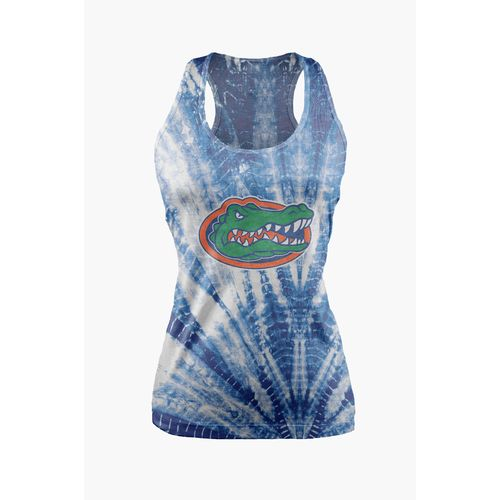 Chicka-d Women's University of Florida Tie Dye Racerback Tank Top
