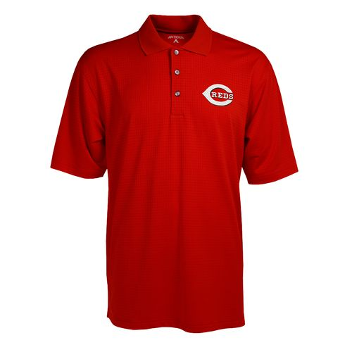 Antigua Men's Cincinnati Reds Phoenix Pointelle Polo Shirt