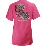 Three Squared Juniors' Southeastern Louisiana University Preppy Paisley T-shirt