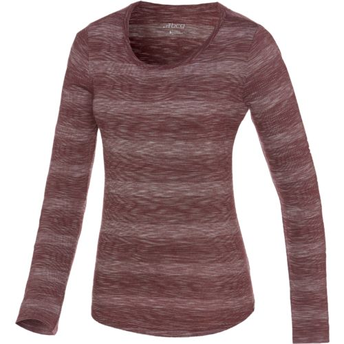 BCG™ Women's Horizon Fine Line Stripe Crew Neck Long Sleeve Raglan Top