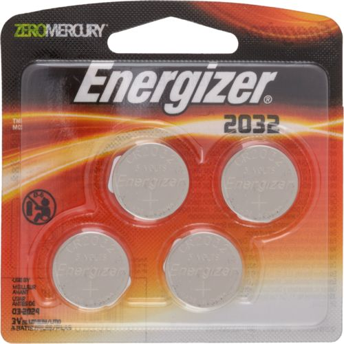 Energizer® CR2032 Zero Mercury Batteries 4-Pack