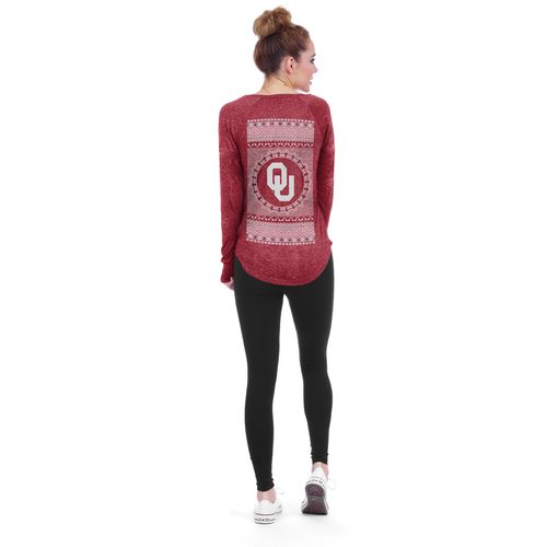 Chicka-d Women's University of Oklahoma Favorite V-neck Long Sleeve T-shirt - view number 3