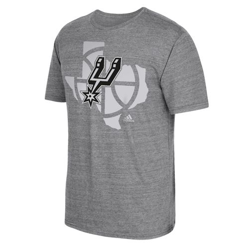 adidas™ Men's San Antonio Spurs State Outline T-shirt