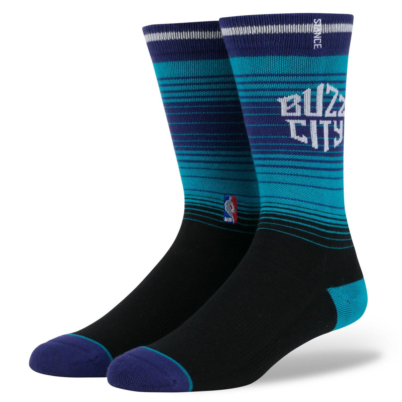 Stance Men's Charlotte Hornets Arena Logo Crew Socks