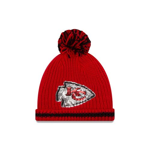 New Era Men's Kansas City Chiefs NFL16 Sequin Frost Knit Cap