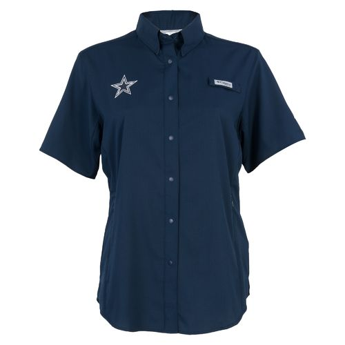 Columbia Sportswear™ Women's Dallas Cowboys Tamiami Short Sleeve Fishing Shirt