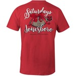 Image One Women's Arkansas State University Laces and Bows Comfort Color T-shirt - view number 1