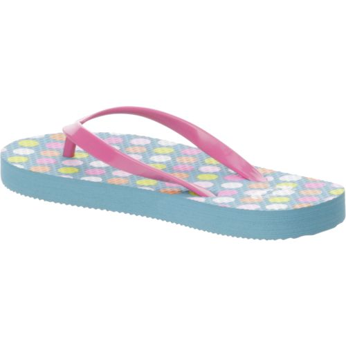 O'Rageous Girls' Glitter Strap Thong Flip-Flops - view number 3