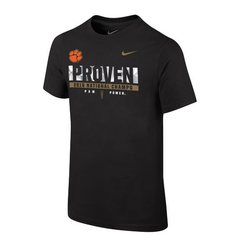 Nike boy 39 s clemson university 2016 national champions for Clemson university t shirts