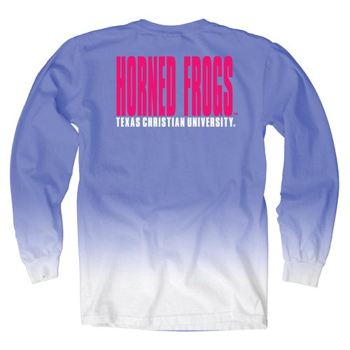 Blue 84 Women's Texas Christian University Ombré Long Sleeve Shirt