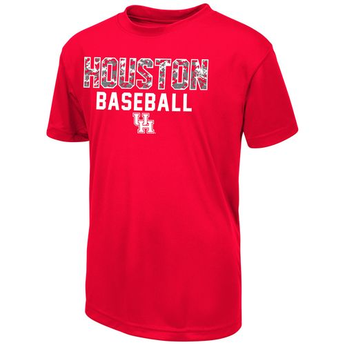 Colosseum Athletics Boys' University of Houston Digi Camo Baseball T-shirt