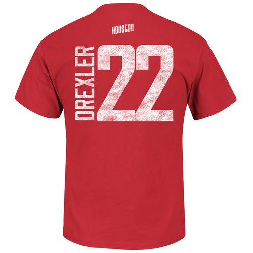 Majestic Men's Houston Rockets Clyde Drexler 22 HWC Name and Number T-shirt