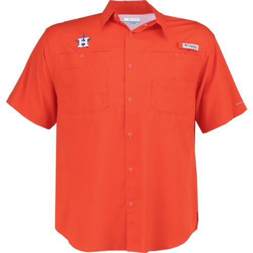 Columbia Sportswear Men's Houston Astros Tamiami Short Sleeve Shirt