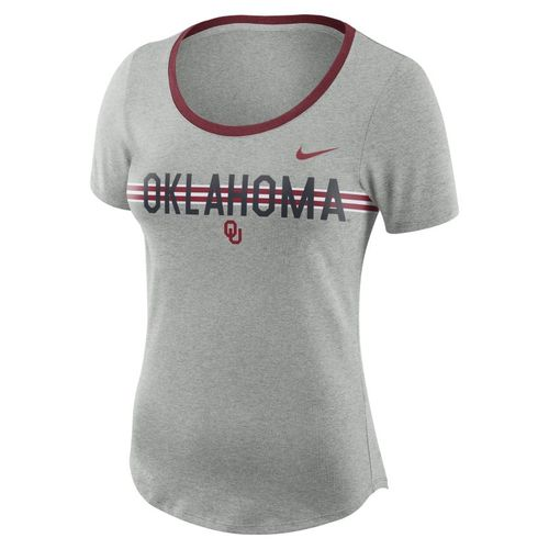 Nike Women's University of Oklahoma Dry Strike Slub T-shirt