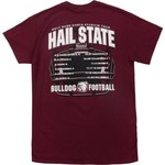 New World Graphics Men's Mississippi State University Football Schedule '17 T-shirt - view number 4