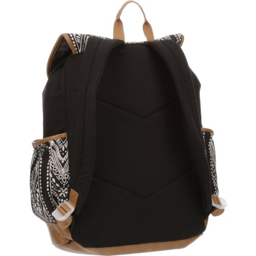 Emma & Chloe Girls' Vinyl-Base Cotton Backpack - view number 3