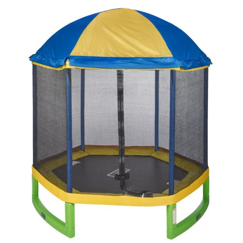 Display product reviews for Jump Zone 7 ft My First Trampoline with Tent Top Combo