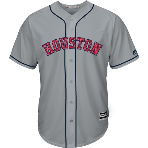 Majestic Men's Houston Astros Carlos Correa Stars and Stripes COOL BASE Jersey - view number 2