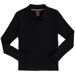 French Toast Girls' Plus Size Long Sleeve Interlock Knit Uniform Polo - view number 1