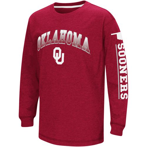 Colosseum Athletics Boys' University of Oklahoma Grandstand Long Sleeve T-shirt