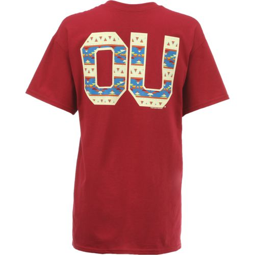 New World Graphics Women's University of Oklahoma Logo Aztec T-shirt