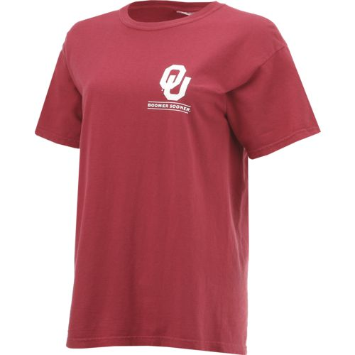 New World Graphics Women's University of Oklahoma Comfort Color Puff Arch T-shirt - view number 3