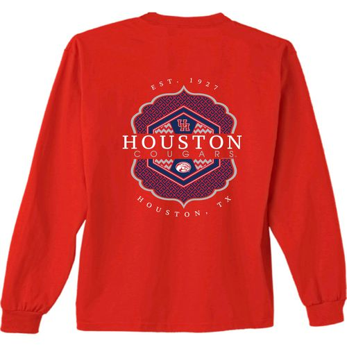 New World Graphics Women's University of Houston Faux Pocket Long Sleeve T-shirt