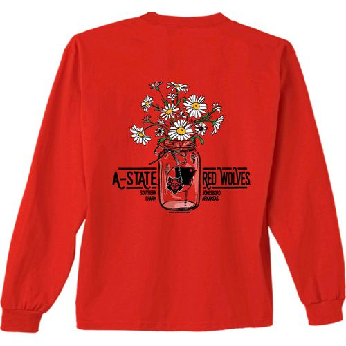 New World Graphics Women's Arkansas State University Bouquet Long Sleeve T-shirt