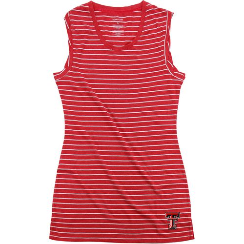 Boxercraft Women's Texas Tech University Striped Sleep T-shirt