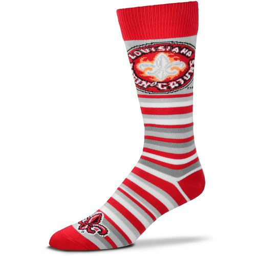 For Bare Feet University of Louisiana at Lafayette Lotta Stripe Dress Socks