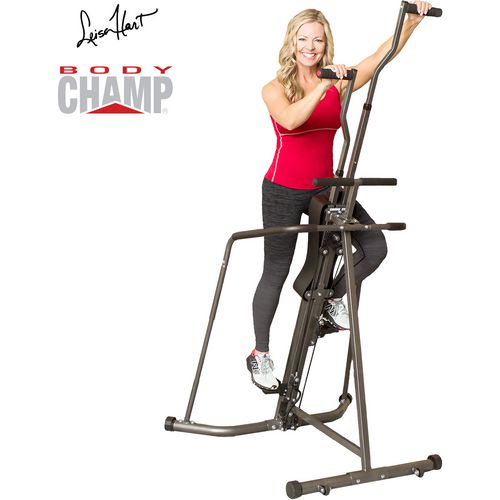 Leisa Hart Vertical Cardio Climber/Stepper with Full Wraparound Stability Rails by Body Champ
