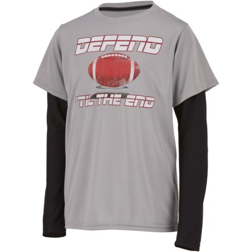 BCG Boys' Defend 'Til the End Long Sleeve Training T-shirt - view number 1