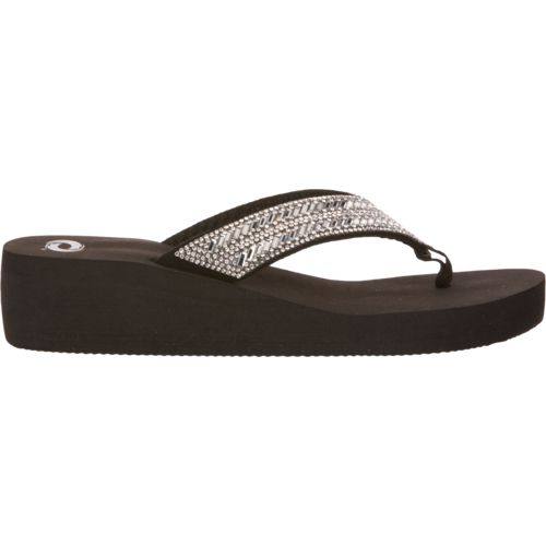 O'Rageous Women's Bling Wedge Flip-Flops